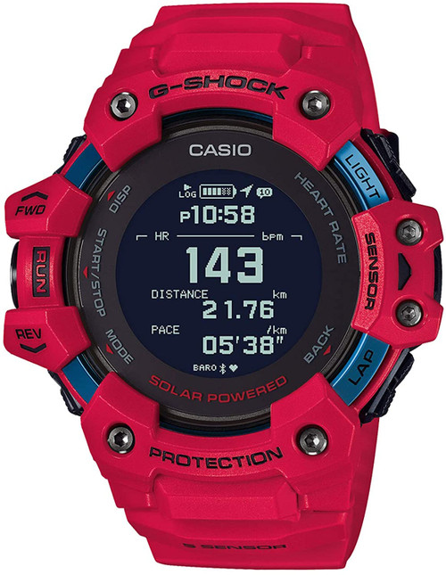 Casio G-SQUAD Red GBD-H1000-4JR Heart Rate Monitor