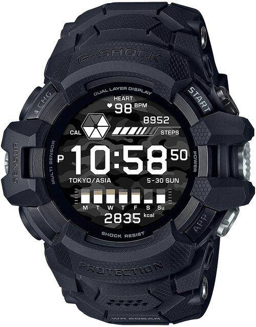 Casio G-SQUAD Pro GSW-H1000-1AJR Google Wear OS
