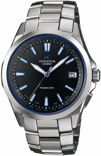 Silver Casio Oceanus Solar Atomic Watch