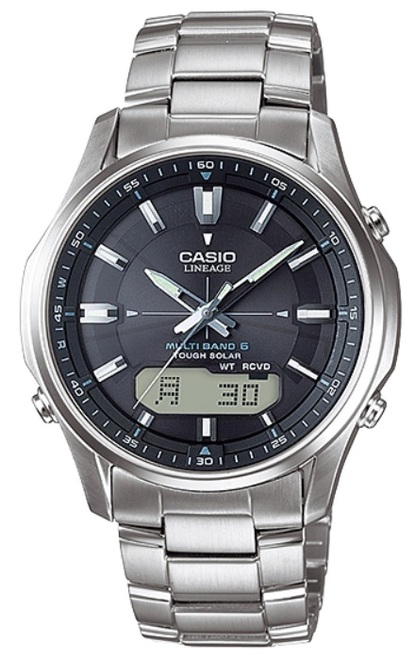 Silver Casio Lineage Atomic Watch