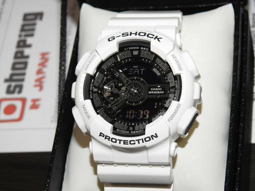 G-Shock GA-110GW-7AJF White and Black