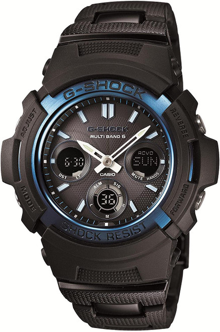 Casio G-Shock AWG-M100BC-2AJF Black and Blue