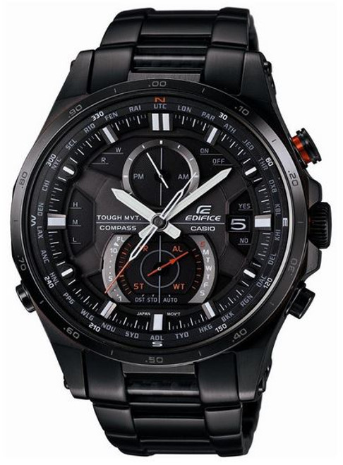 Black Casio Edifice Compass Watch