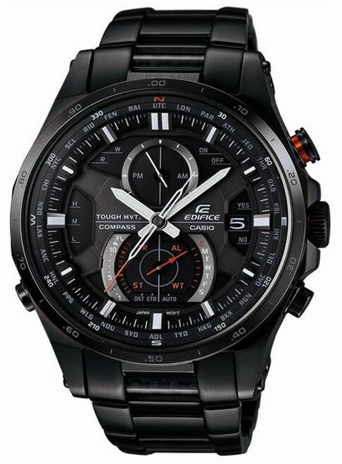 Black Casio Edifice Compass Watch