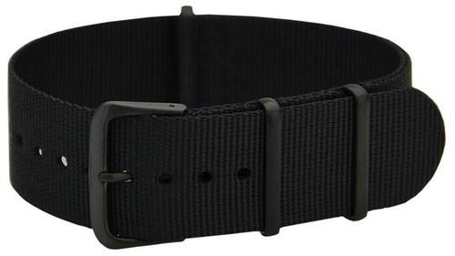 Cassis Nato Strap Band 20mm Nylon Black (19) 141.601B
