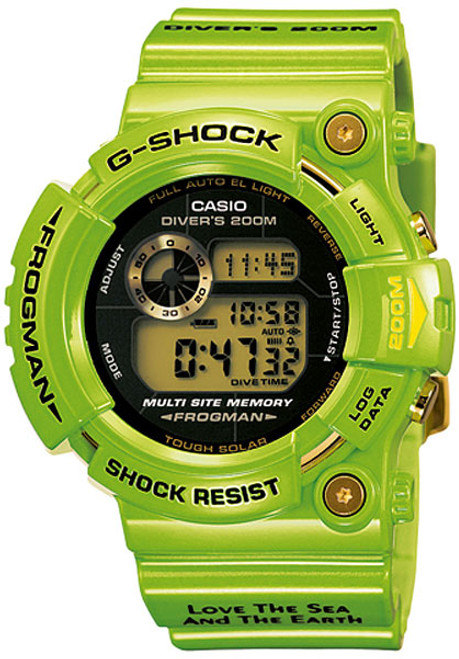Casio G-Shock Frogman Green Kermit GW-200F-3JR