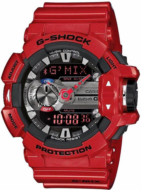 Red Casio G-Shock Bluetooth G'Mix Series Watch