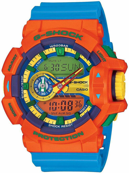 Casio G-Shock Hyper Colors Orange and Blue