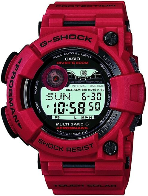 Casio Frogman GWF-1000RD-4JF Men in Burning Red