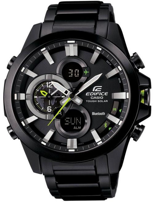 Black and Silver Casio Edifice Bluetooth Watch