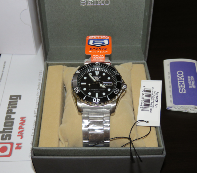 reputable site 8d690 cd07a Seiko 5 Sports SNZF17J1 Made In Japan Version - Shopping In ...