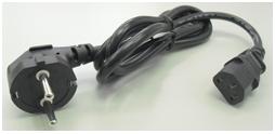 bundled black power cord