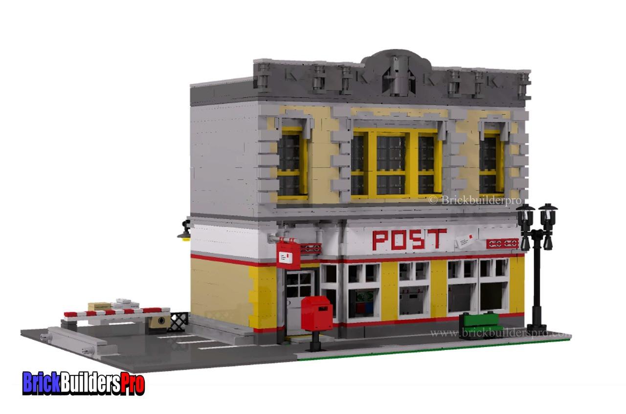 Post Office Main Street Depot Pdf Instructions Brickbuilderspro Store
