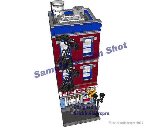 Pizza Shop Pdf Instructions Brickbuilderspro Store