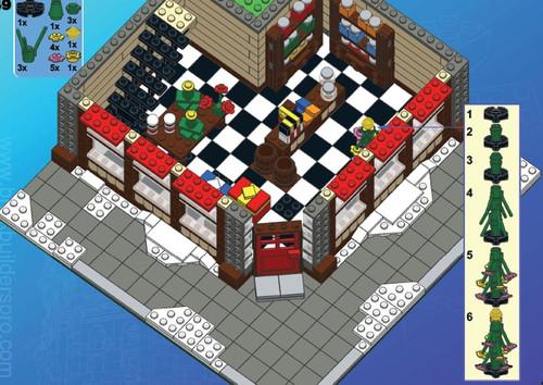 Modular Christmas Department Store Corner