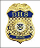 """Department of Homeland Security """"DHS Spouse"""" Mini Badge Lapel Pin"""