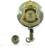 TSA Lead Officer Mini Badge Retractable ID Reel Badge Holder