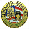 Legacy Immigration and Naturalization Service Inspector Challenge Coin - Front