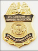 Customs and Border Protection Watch Commander Mini Badge Lapel Pin