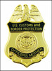 Customs and Border Protection Officers Mother Mini Badge Magnet