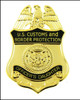 Customs and Border Protection Officers Daughter Mini Badge Magnet
