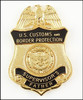 Customs and Border Protection Supervisor Father Mini Badge Magnet