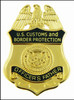 Customs and Border Protection Officers Father Mini Badge Magnet