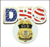 DHS Immigration and Customs Enforcement Golf Hat Clip and ICE Golf Ball Marker