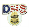 DHS Immigration and Customs Enforcement Golf Hat Clip and Federal Agent Golf Ball Marker