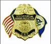 """Customs and Border Protection 1.25"""" Officer Mini Badge and Flags Magnet"""