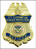 """Customs and Border Protection 1.25"""" Officer Mini Badge in Blue Magnet"""