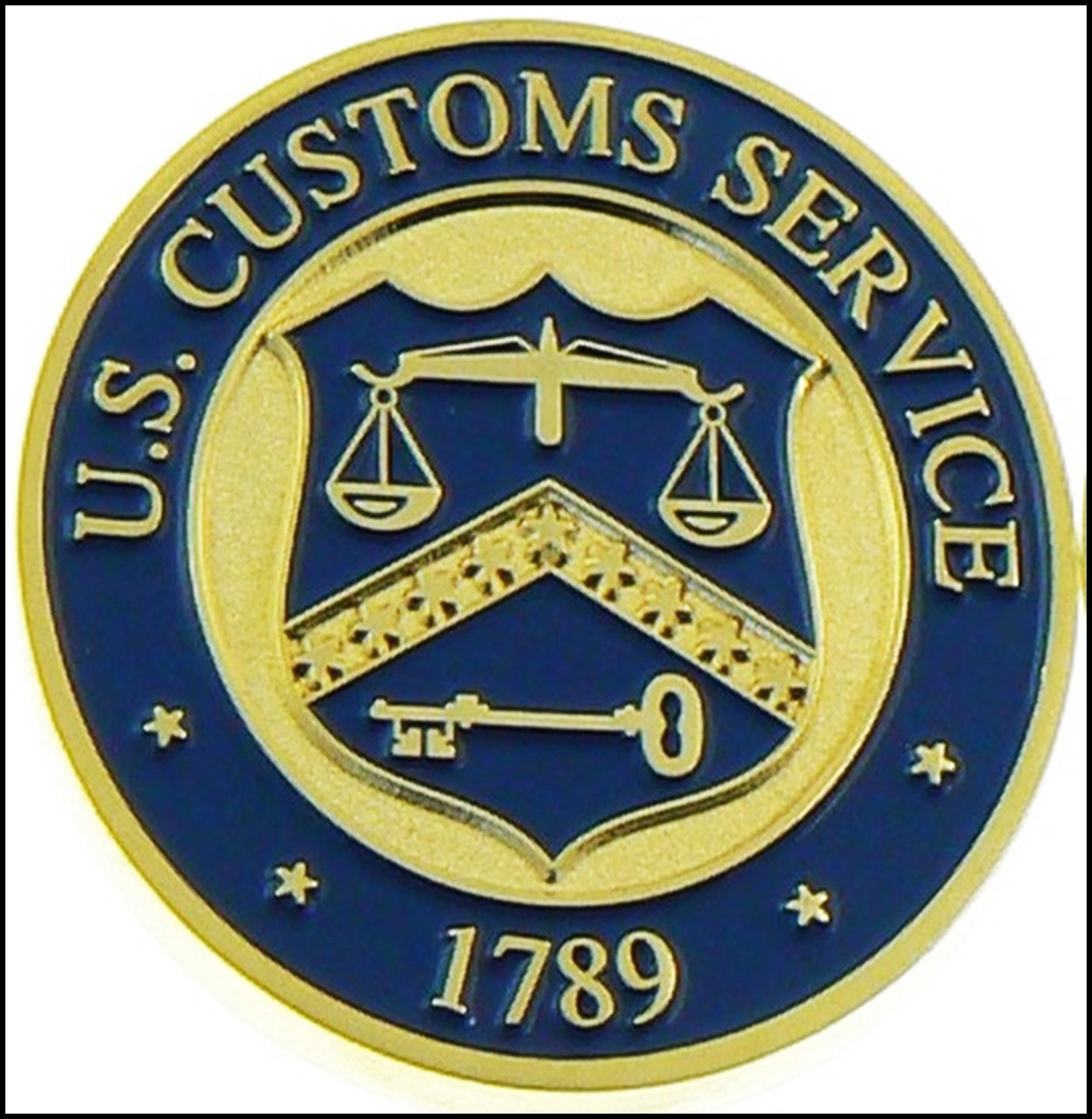 Legacy U.S. Customs Service Inspector Challenge Coin - Back