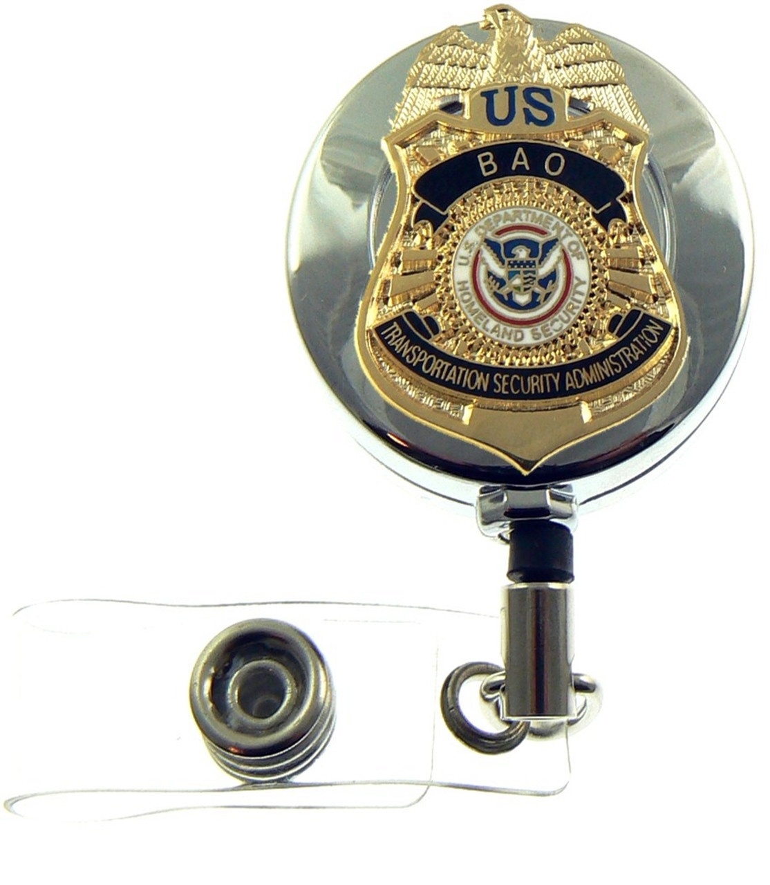TSA BAO Mini Badge Retractable ID Reel Badge Holder