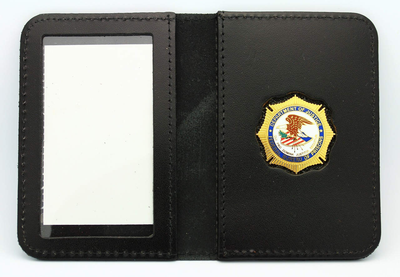 Bureau of Prisons Mini Badge ID Wallet