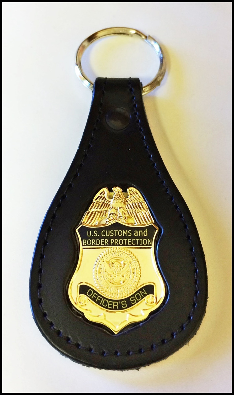 Customs and Border Protection Officers Son Mini Badge Key Ring