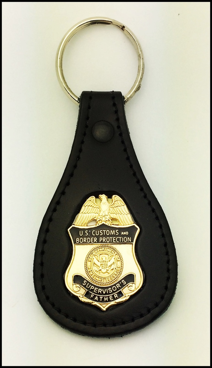 Customs and Border Protection Supervisors Father Mini Badge Key Ring