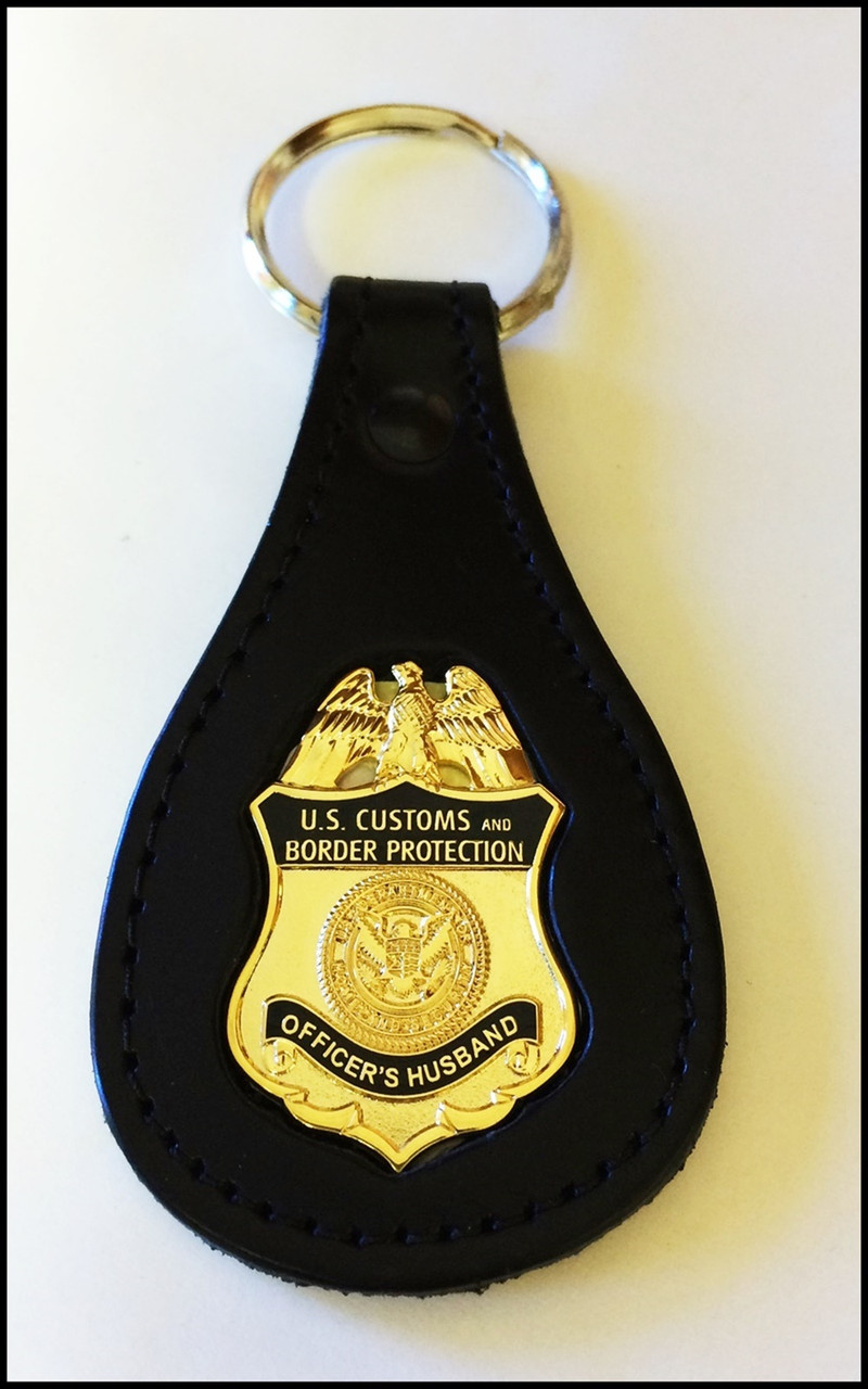Customs and Border Protection Officers Husband Mini Badge Key Ring