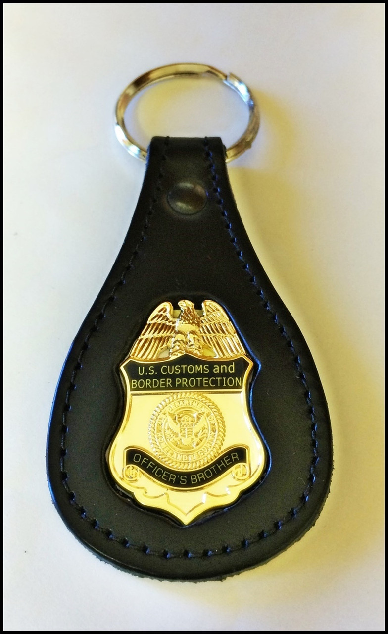 Customs and Border Protection Officers Brother Mini Badge Key Ring