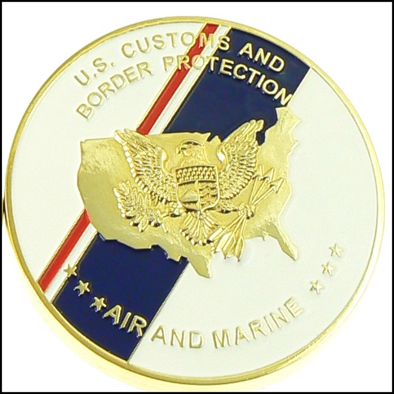 CBP Air and Marine Operations Marine Interdiction Challenge Coin - Back
