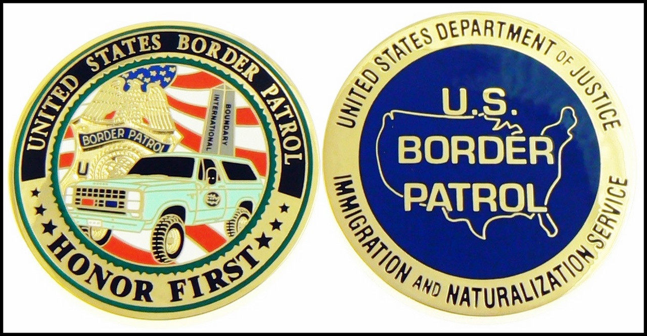 Legacy U.S. Border Patrol Challenge Coin