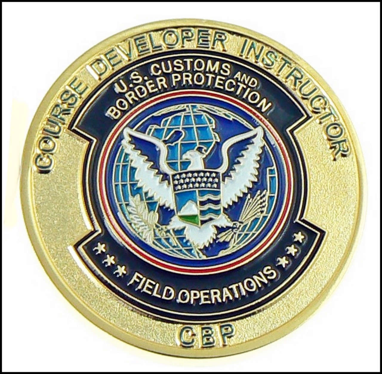 CBP Course Developer Instructor Challenge Coin - Back