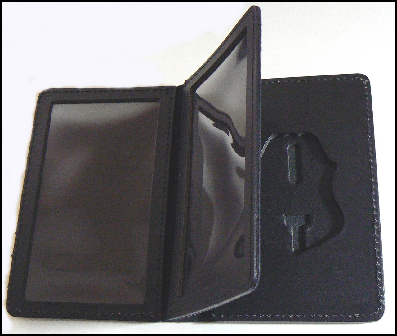 Customs and Border Protection Duty Leather Badge and Credential Case  ID Windows