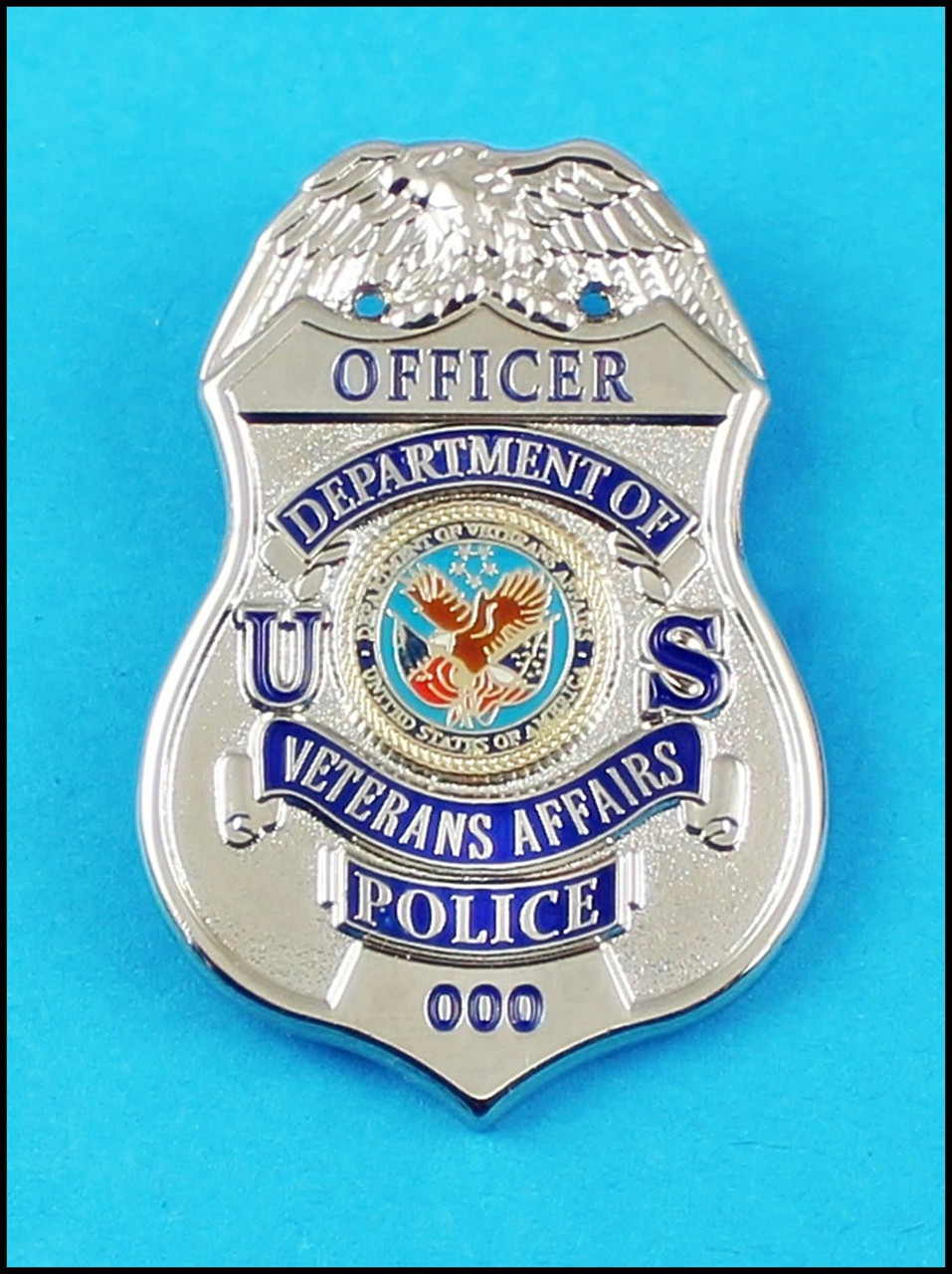 Department of Veterans Affairs Police Officer Mini Badge Lapel Pin