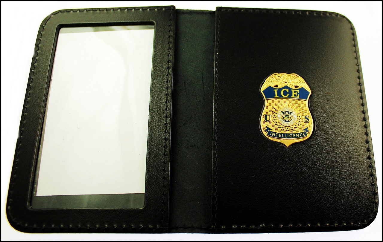 Immigration and Customs Enforcement Intelligence Officer Mini Badge ID Wallet