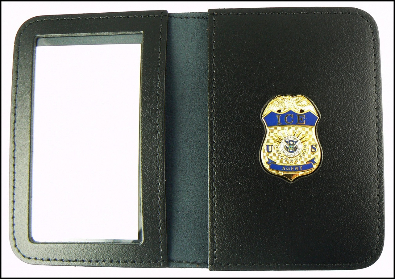 Immigration and Customs Enforcement Agent Mini Badge ID Wallet