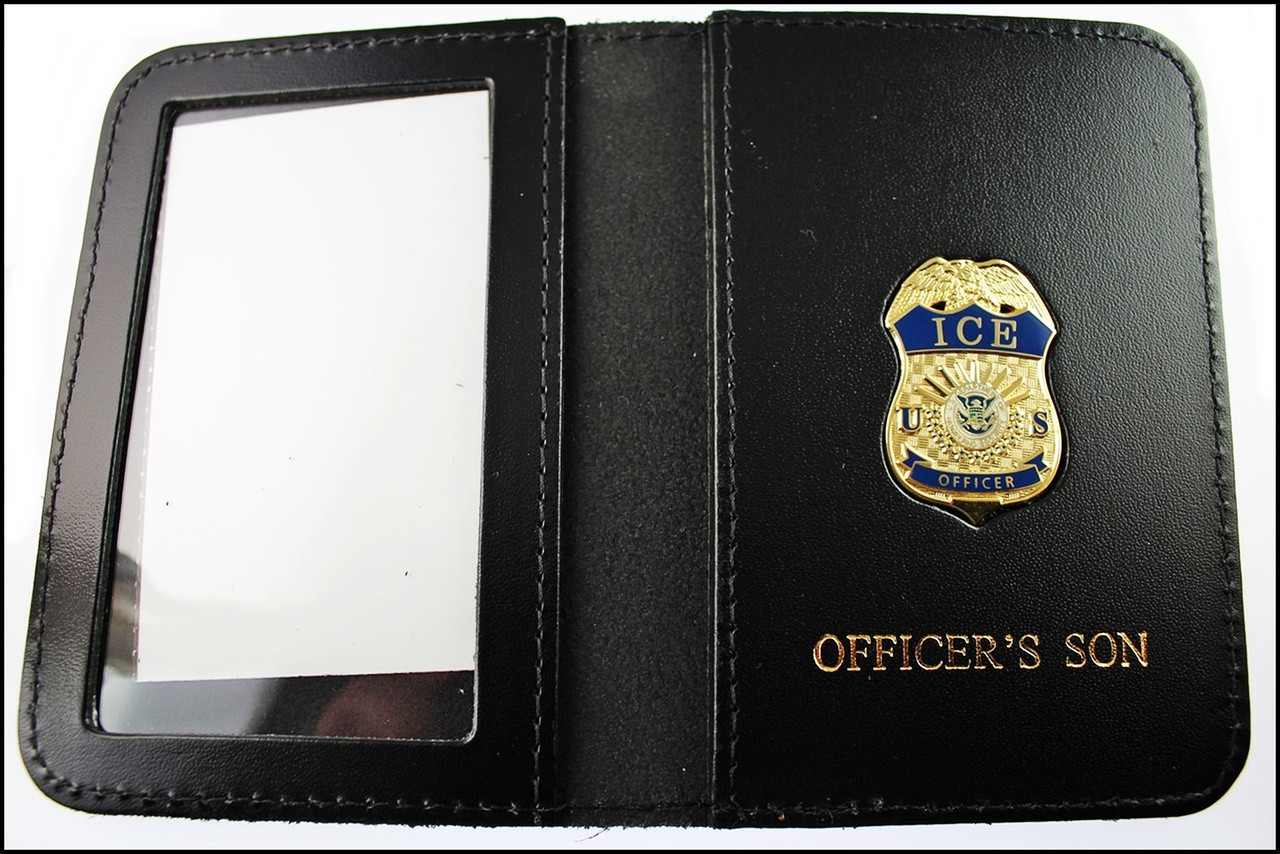 Immigration and Customs Enforcement Officer Mini Badge ID Wallet with Officer's Son Embossing