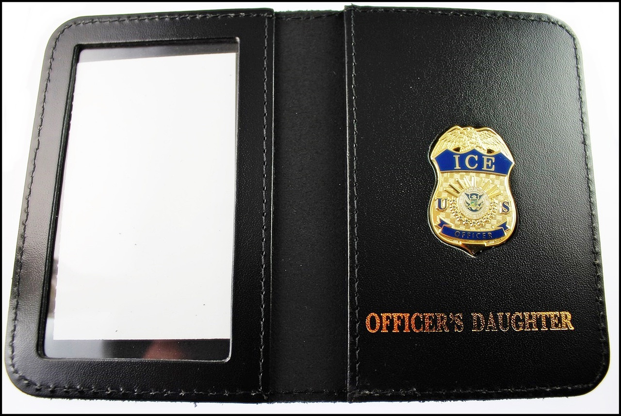 Immigration and Customs Enforcement Officer Mini Badge ID Wallet with Officer's Daughter Embossing