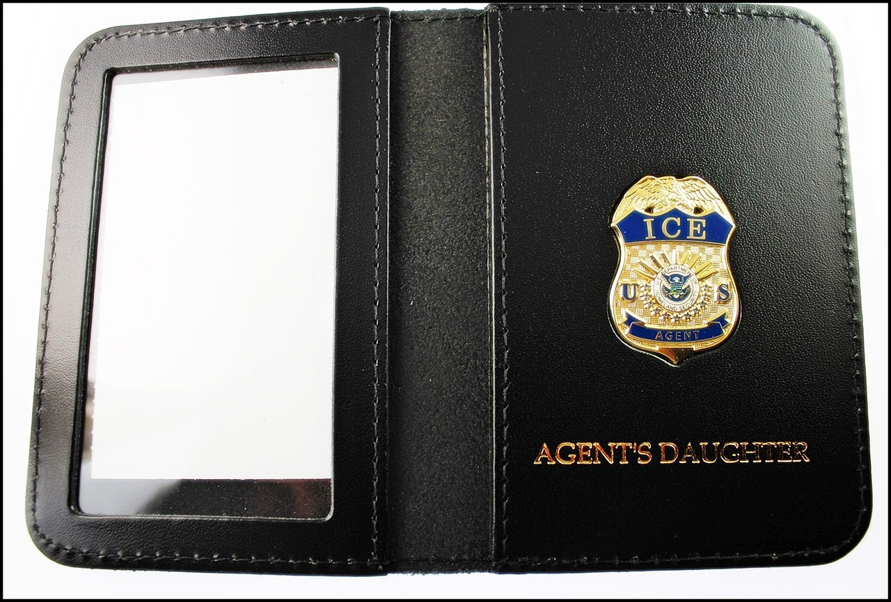 Immigration and Customs Enforcement Agent Mini Badge ID Wallet with Agent's Daughter Embossing