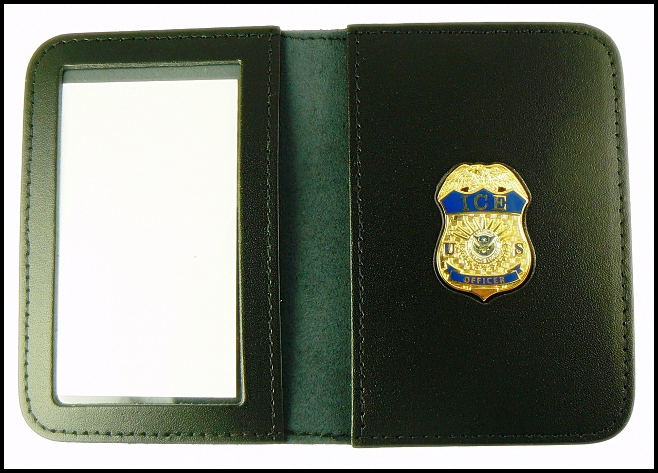 Immigration and Customs Enforcement Officer Mini Badge ID Wallet