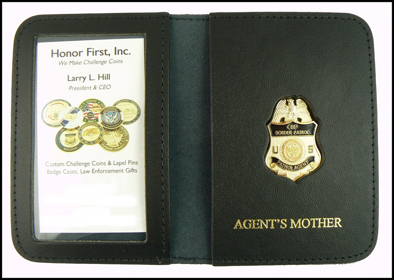 US Border Patrol Supervisor Mini Badge ID Card Holder Case with Agent's Mother Embossing